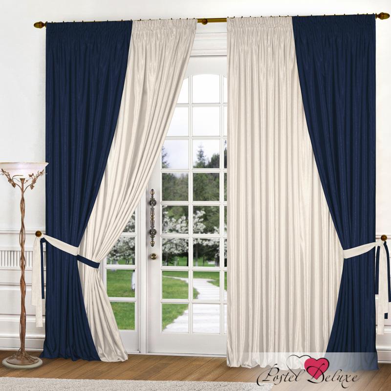Eleganta Классические шторы Миллениум Цвет: Синий, Молочный