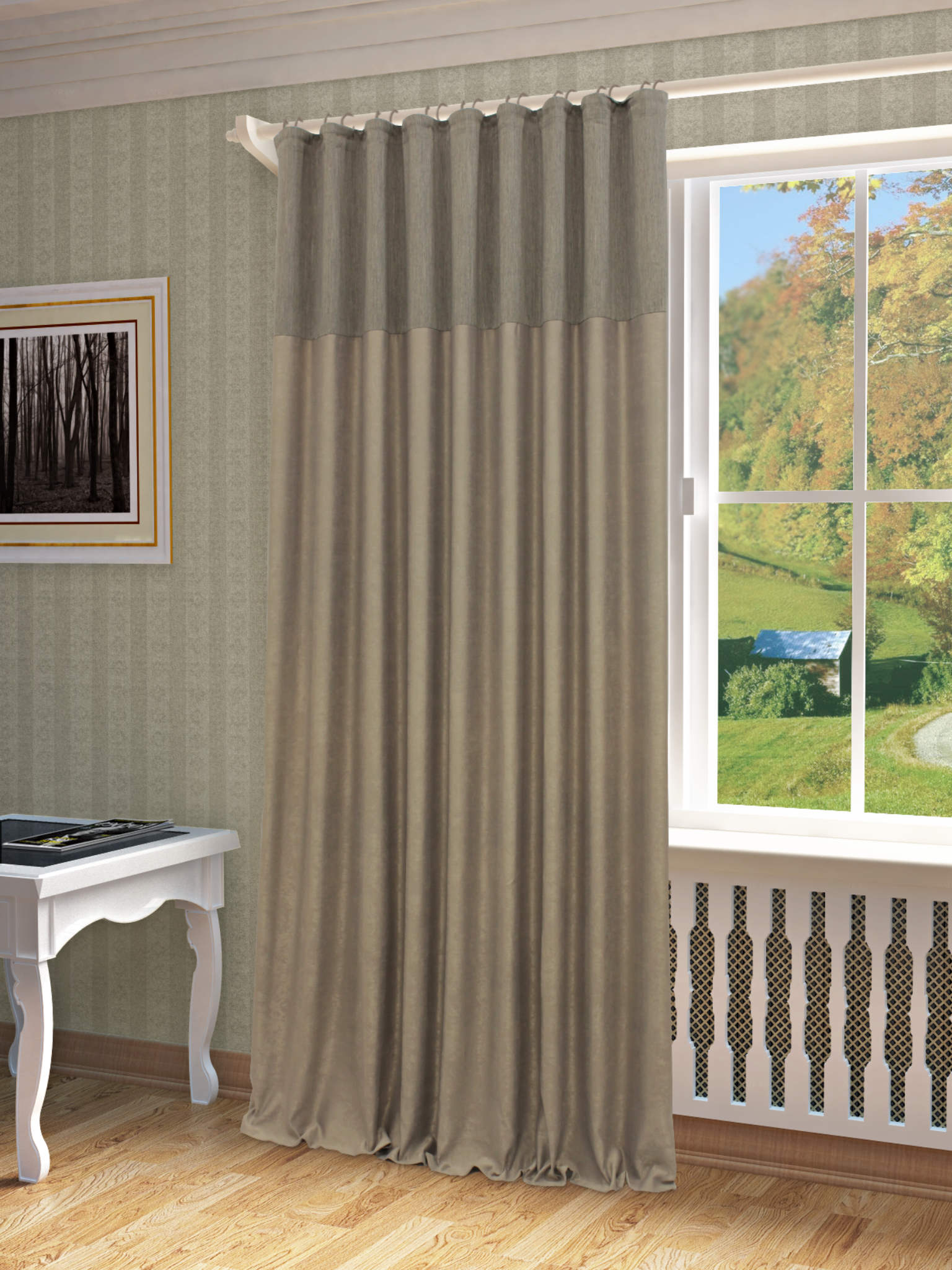 Шторы Sanpa Классические шторы Эльха Цвет: Серый пена монтажная mastertex 500мл