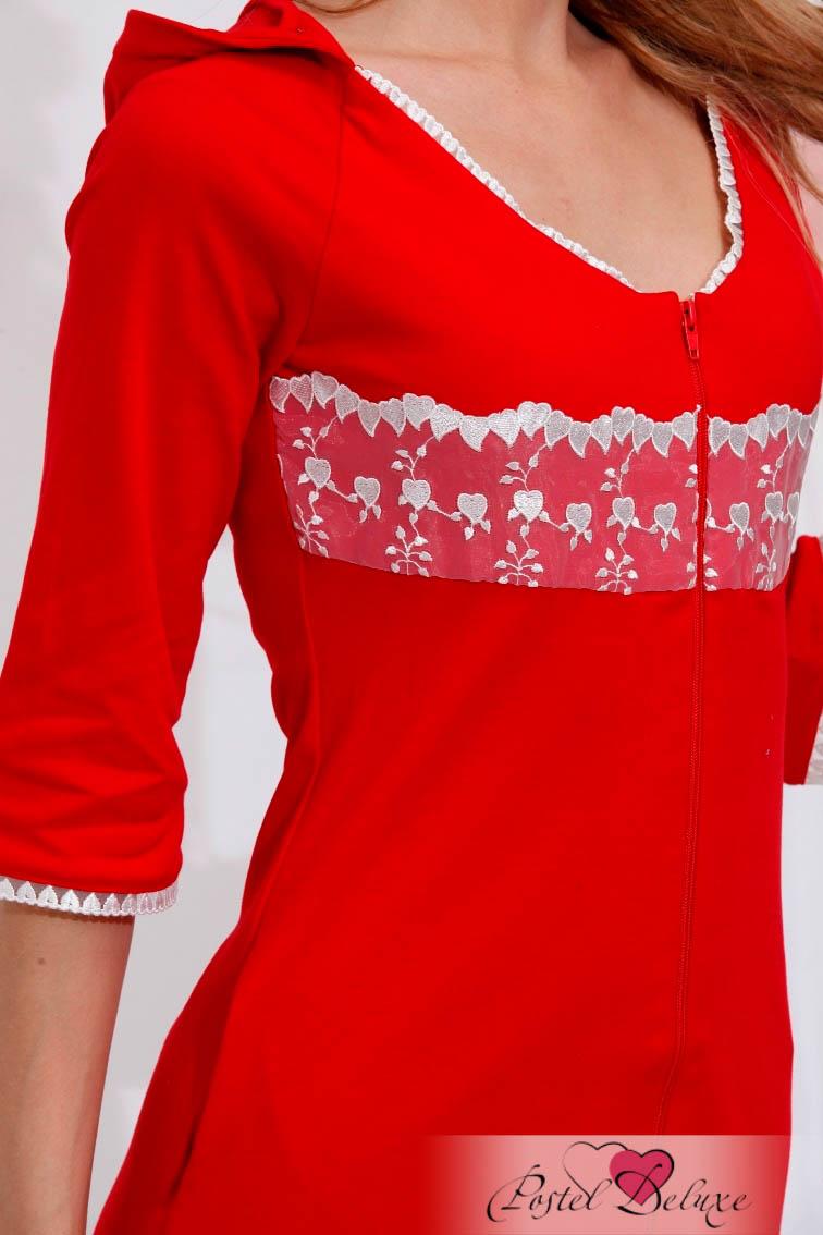 Домашние халаты EvaTeks Домашний халат April Цвет: Красный (M) сумка морская хлопок джинсовая ткань ручная авторская работа velvet april россия 2014 год