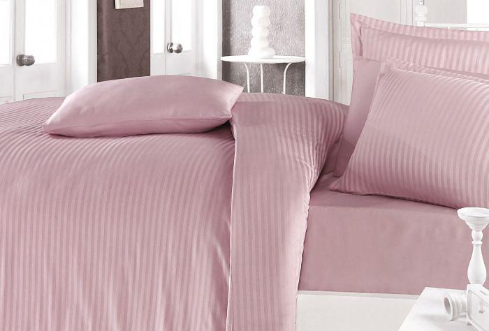 Постельное белье Clasy Постельное белье Stripe Цвет: Розовый (2 сп. евро)