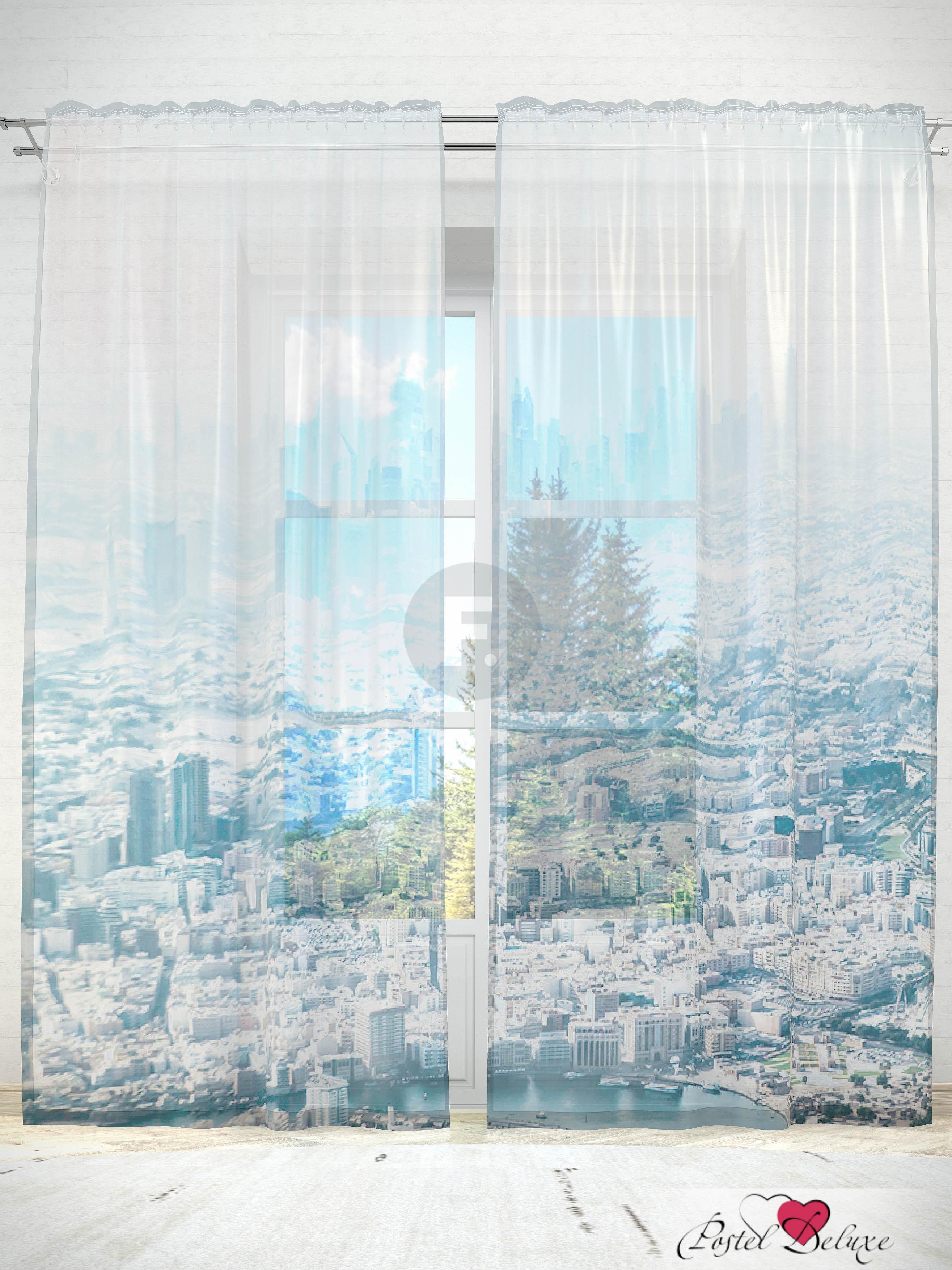 Шторы Fototende Фототюль Город с высоты полета