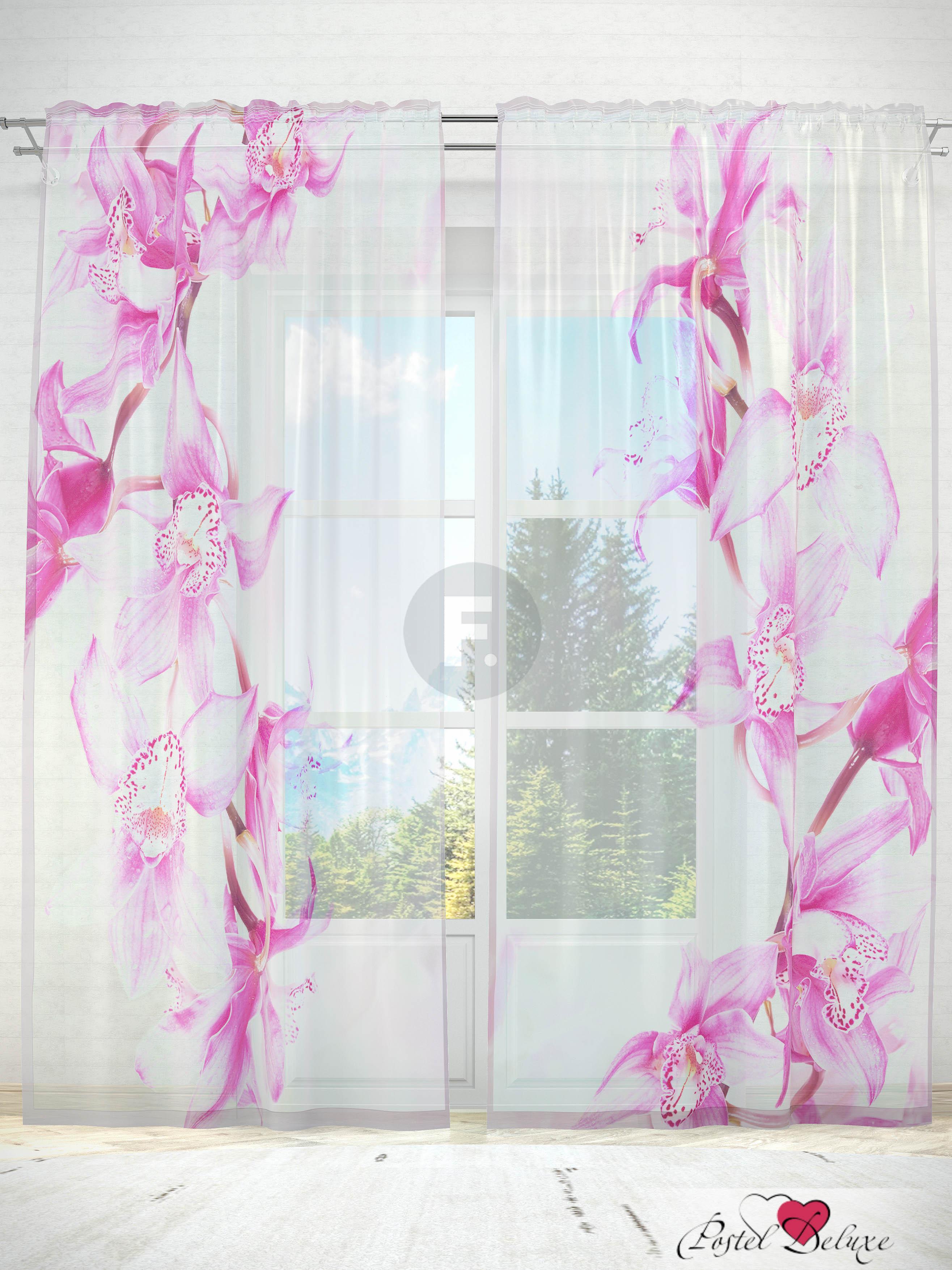 Шторы Fototende Фототюль Ветка орхидеи