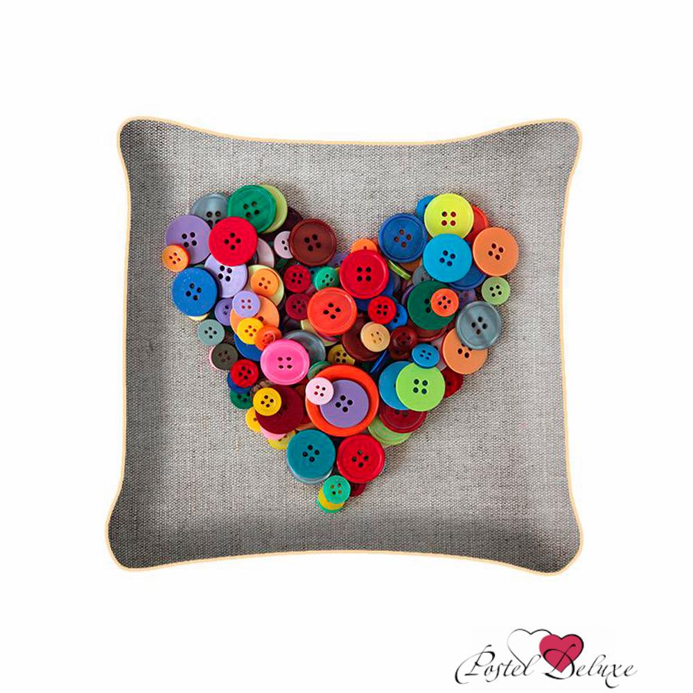 Декоративные подушки Fototende Декоративная подушка Сердце Из Пуговиц (45х45)