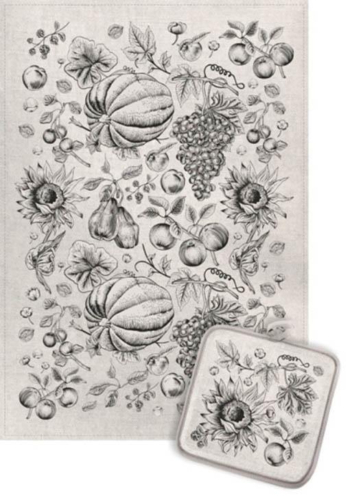 Кухонный набор Гранд-Стиль Гранд-Стиль Кухонное полотенце Фрукты монохром gst190814