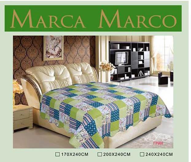где купить  Покрывало MАRCA MARCO Покрывало Грин (240х240 см)  по лучшей цене