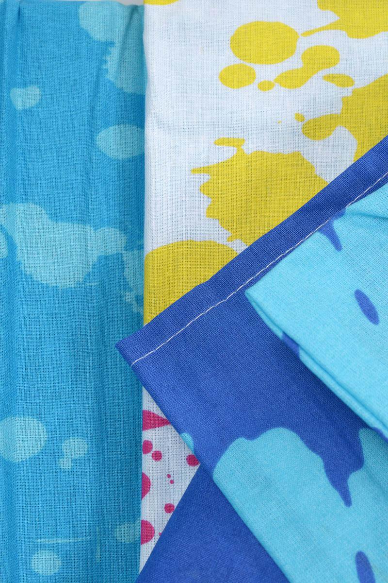 где купить  Детское Постельное белье Хлопковый Край Постельное белье Happy Цвет: Голубой (140х205 см)  по лучшей цене