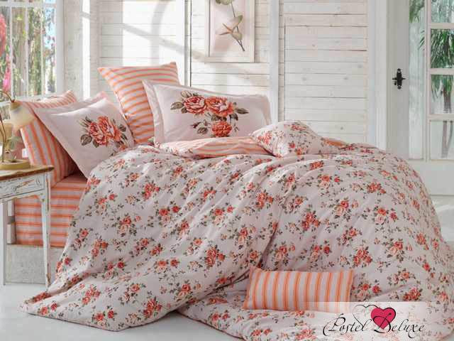 Hobby Collection КПБ Flora Цвет: Персиковый (2 сп. евро)