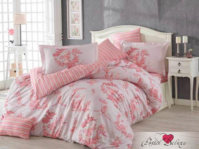 где купить Постельное белье HOBBY HOME COLLECTION Постельное белье Vanessa Цвет: Розовый (2 сп. евро) по лучшей цене