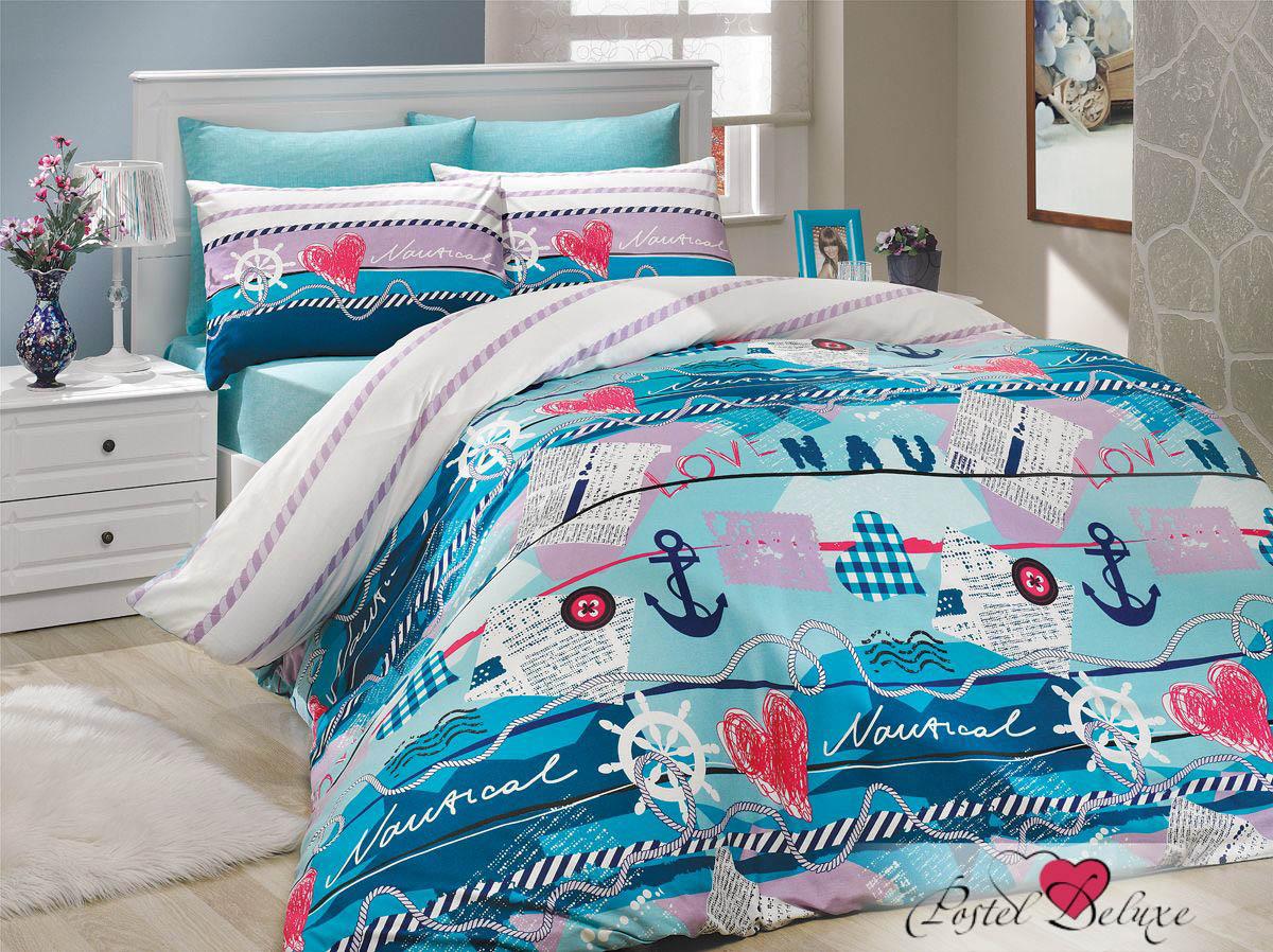 где купить Постельное белье HOBBY HOME COLLECTION Постельное белье Marine Цвет: Бирюзовый (2 спал.) по лучшей цене