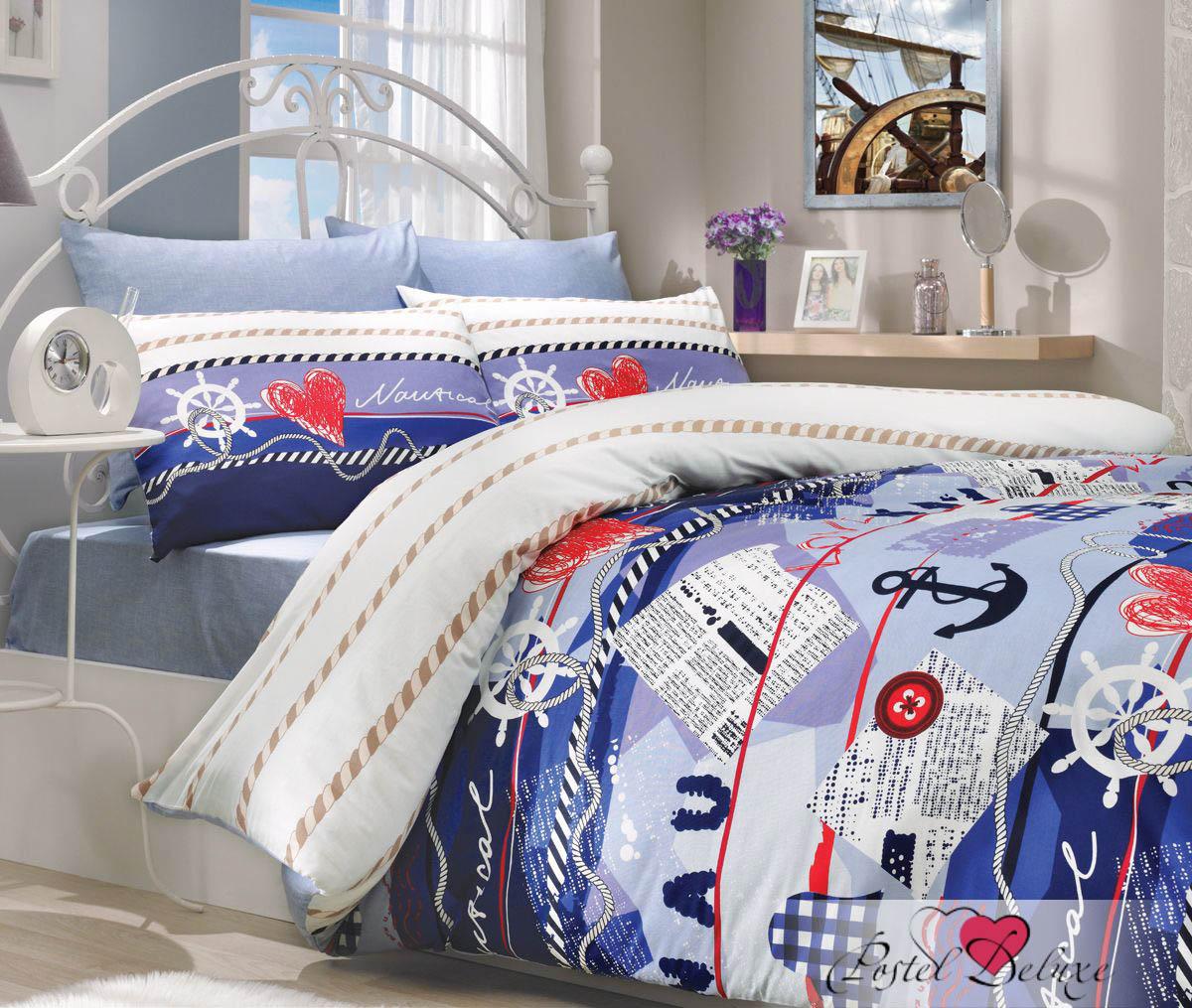 Постельное белье HOBBY HOME COLLECTION Постельное белье Marine Цвет: Синий (2 сп. евро)