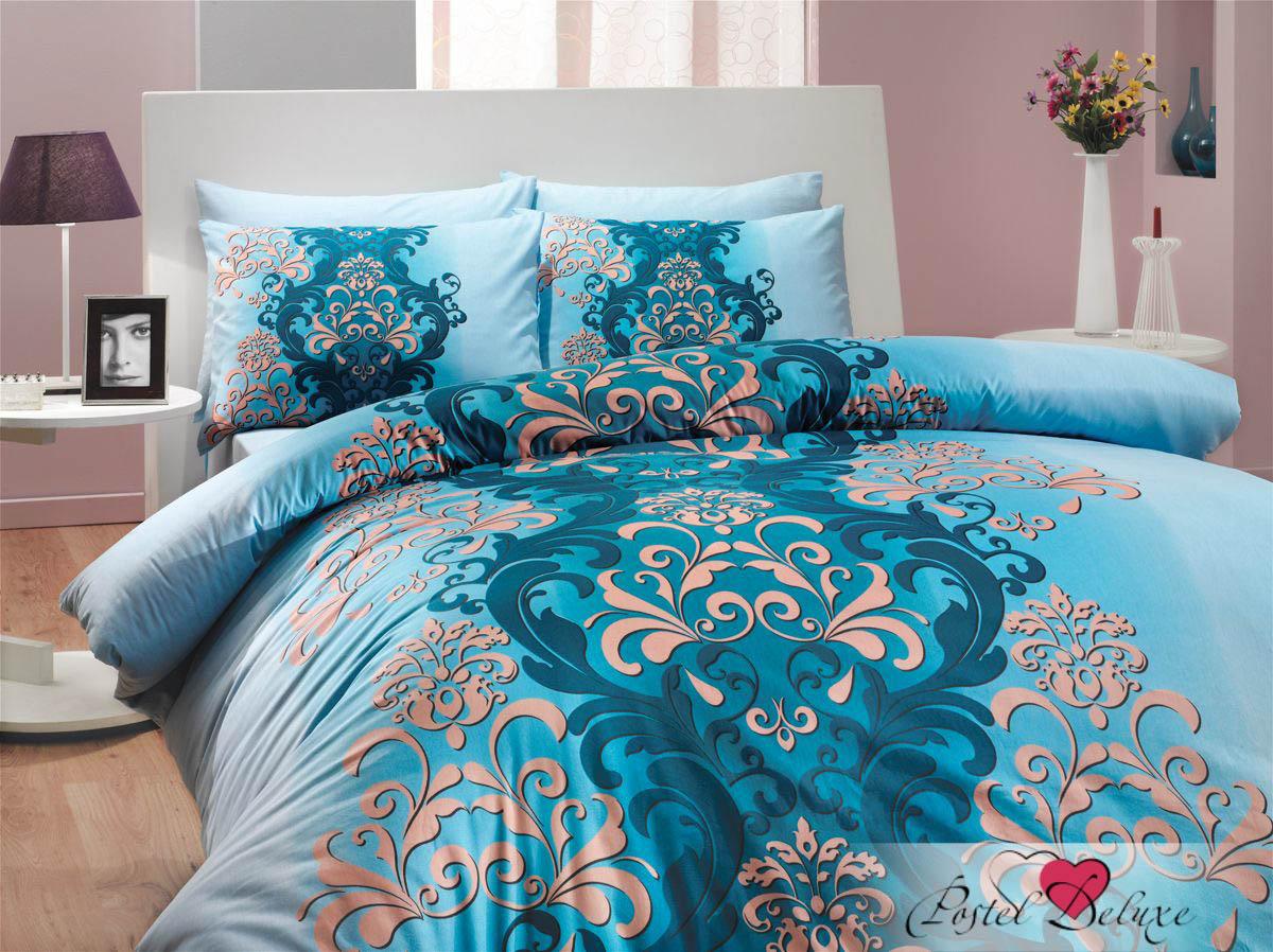 где купить Постельное белье HOBBY HOME COLLECTION Постельное белье Almeda Цвет: Синий (семейное) по лучшей цене