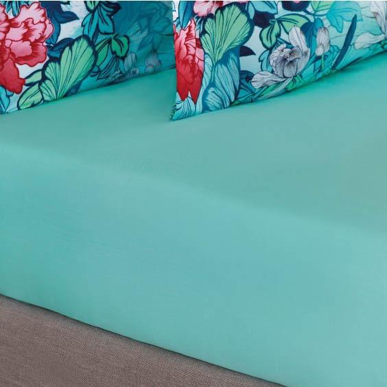 где купить  Простыни Togas Простыня на резинке Хокку Цвет: Бирюзовый (200х200)  по лучшей цене