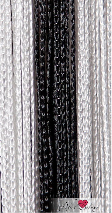 Шторы HomeDeco Нитяные шторы Постоянство Цвет: Черно-Белый inc new black striped lace women s medium m mock 2 fer layered blouse $69 049
