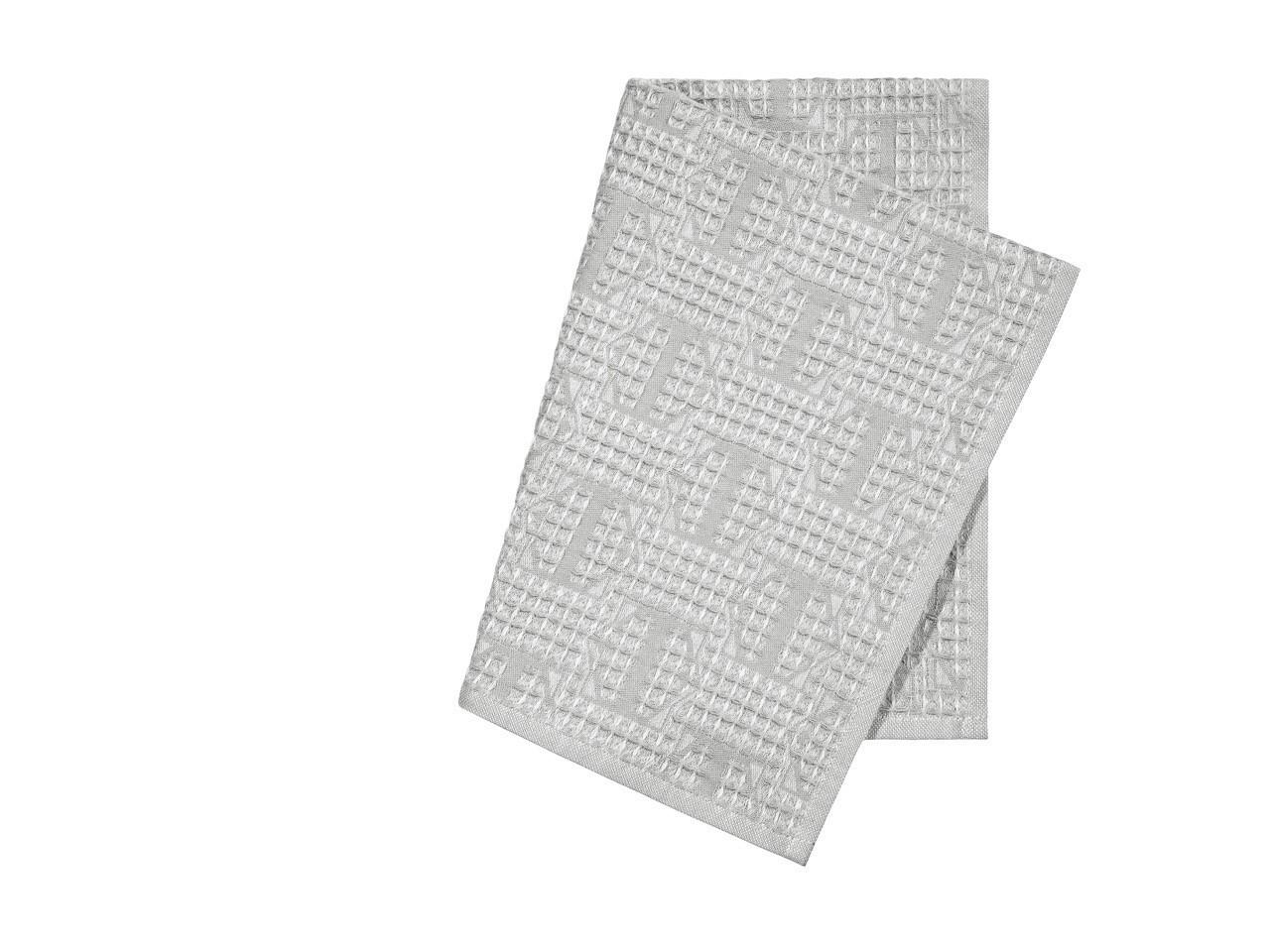 где купить {} Togas Кухонное полотенце Арно Цвет: Светло-Серый (40х60 см - 2 шт) по лучшей цене