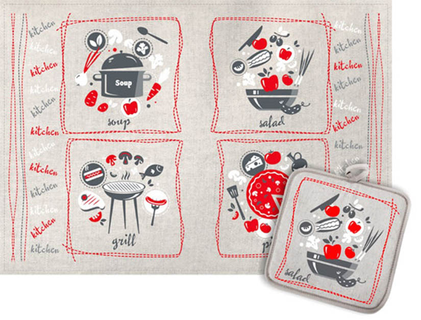 Кухонный набор Гранд-Стиль Гранд-Стиль Кухонное полотенце Ингридиенты gst190812