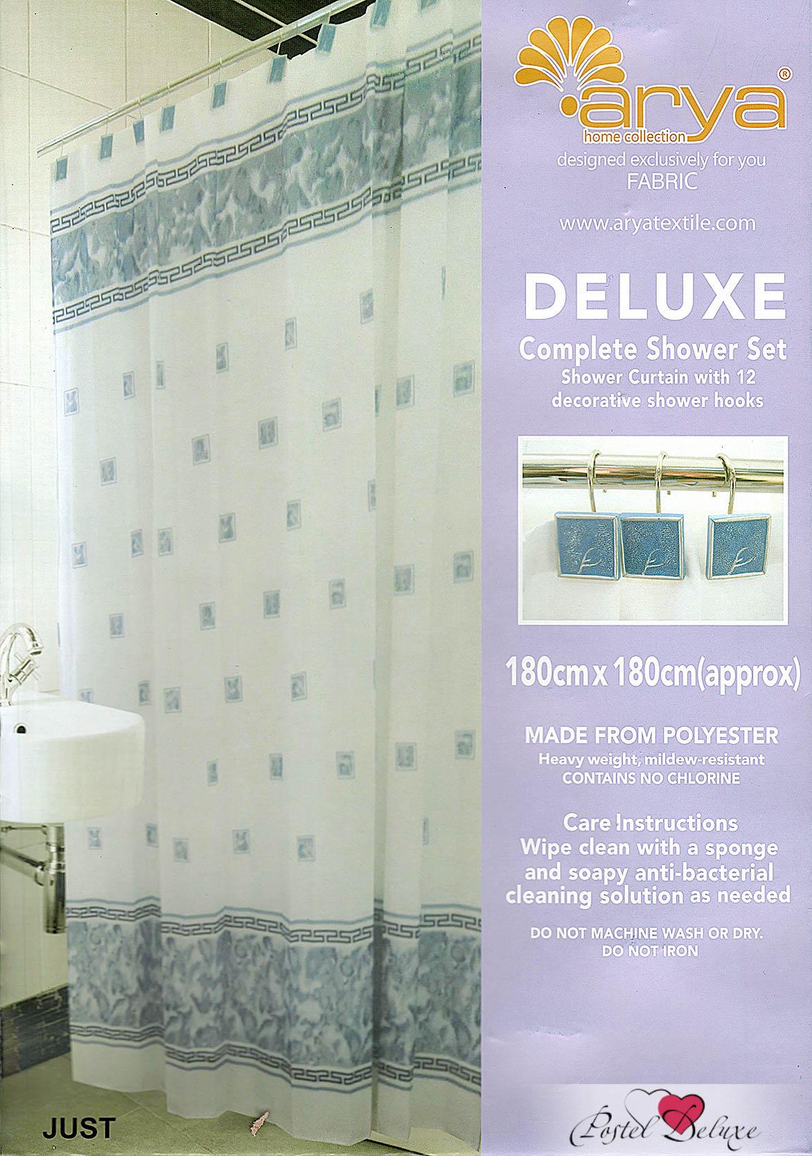 Шторы для ванной AryaПростыни без резинки<br>Производитель: Arya<br>Страна производства: Турция<br>Шторы для ванной<br>Состав: Полиэстер<br>Размер: 180х180 см<br><br>Тип: шторы для ванной<br>Размерность комплекта: для ванной<br>Материал: Полиэстер<br>Размер наволочки: None<br>Подарочная упаковка: для ванной<br>Для детей: нет для ванной<br>Ткань: Полиэстер<br>Цвет: Белый,Синий