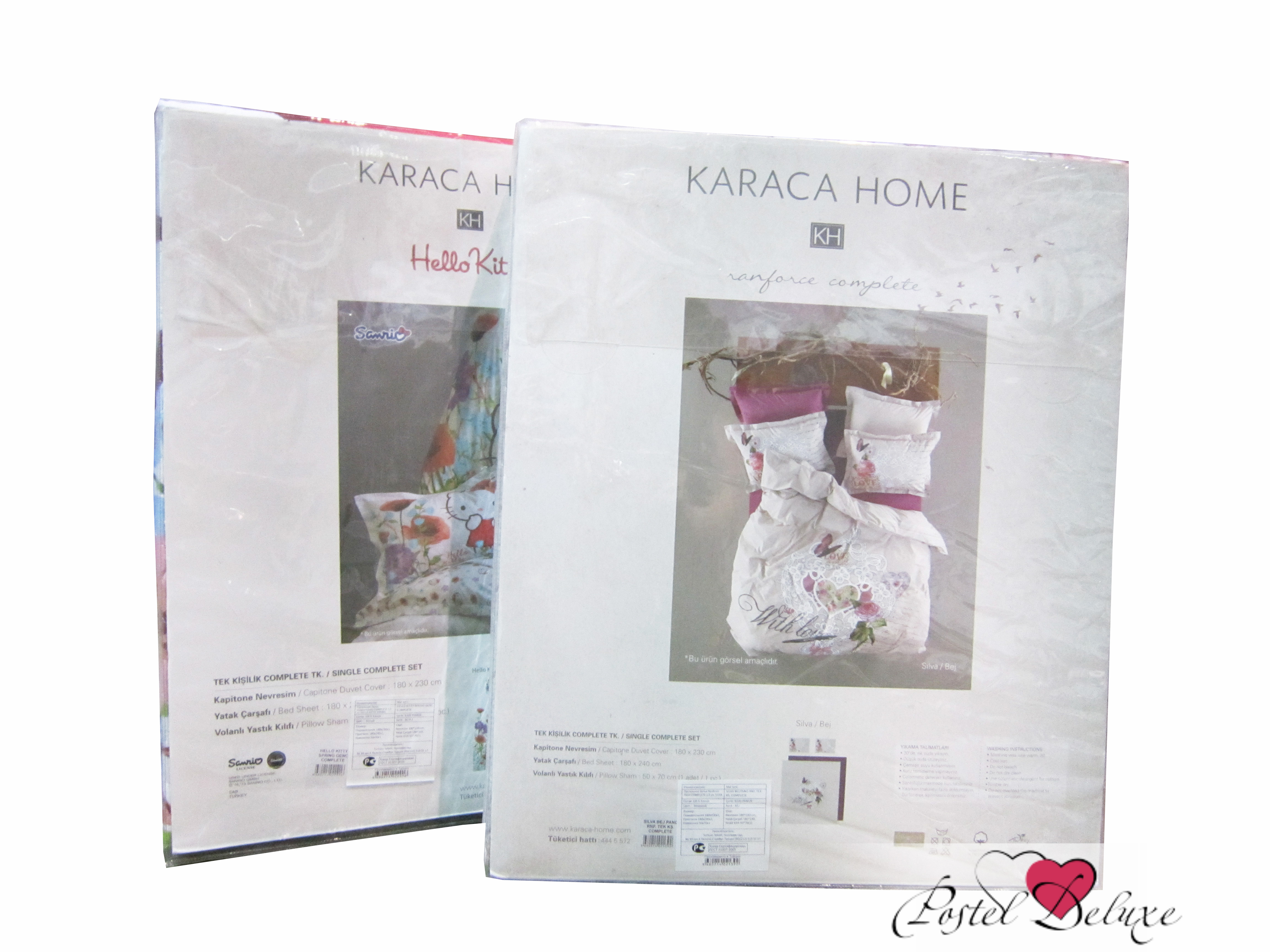 где купить  {} Karaca Home Постельное белье Linda Цвет: Белый (1,5 спал.)  по лучшей цене