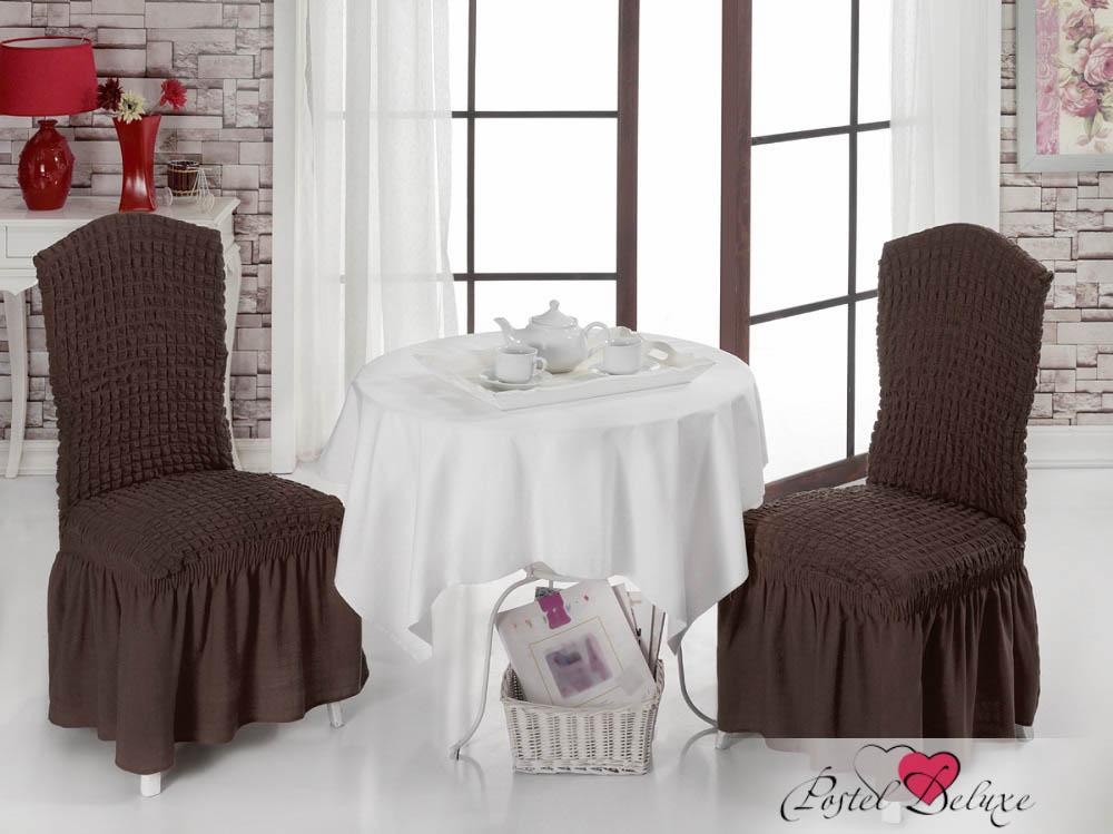 {} Karna Чехол для стула Bet Цвет: Коричневый karna karna чехол на диван угловой цвет коричневый
