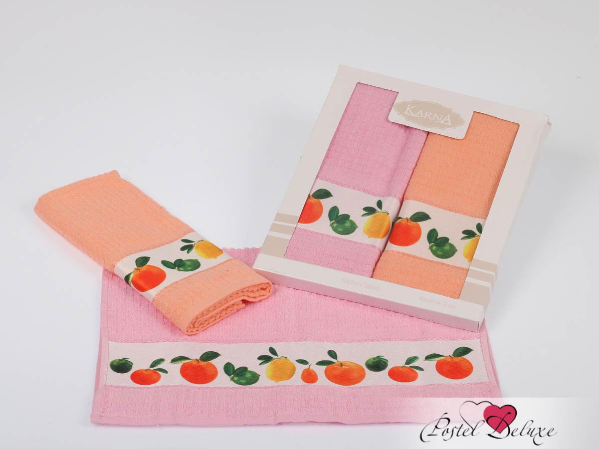 Кухонный набор KarnaКухонные наборы<br>Производитель: Karna<br>Страна производства: Турция<br>Материал: Махра (100% Хлопок)<br>Размер: 40х60 см - 2 шт<br>Особенности: Полотенце выполнено из махровой ткани под вафлю и украшено печатным рисунком.<br><br>Тип: кухонный набор<br>Размерность комплекта: None<br>Материал: Махра<br>Размер наволочки: None<br>Подарочная упаковка: None<br>Для детей: нет<br>Ткань: Махра<br>Цвет: Розовый,Оранжевый