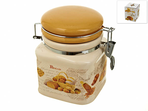 {} Polystar Банка для сыпучих Хлеб (10х10х13 см) банка для сыпучих продуктов polystar хлеб 600 мл