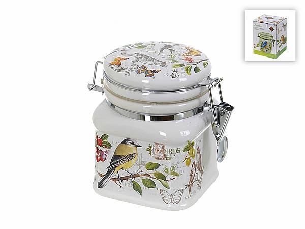 {} Polystar Банка для сыпучих Birds (9х9х12 см) банка для сыпучих продуктов polystar birds 600 мл