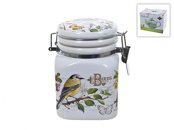 {} Polystar Банка для сыпучих Birds (8х8х12 см) банка для сыпучих продуктов polystar birds 600 мл