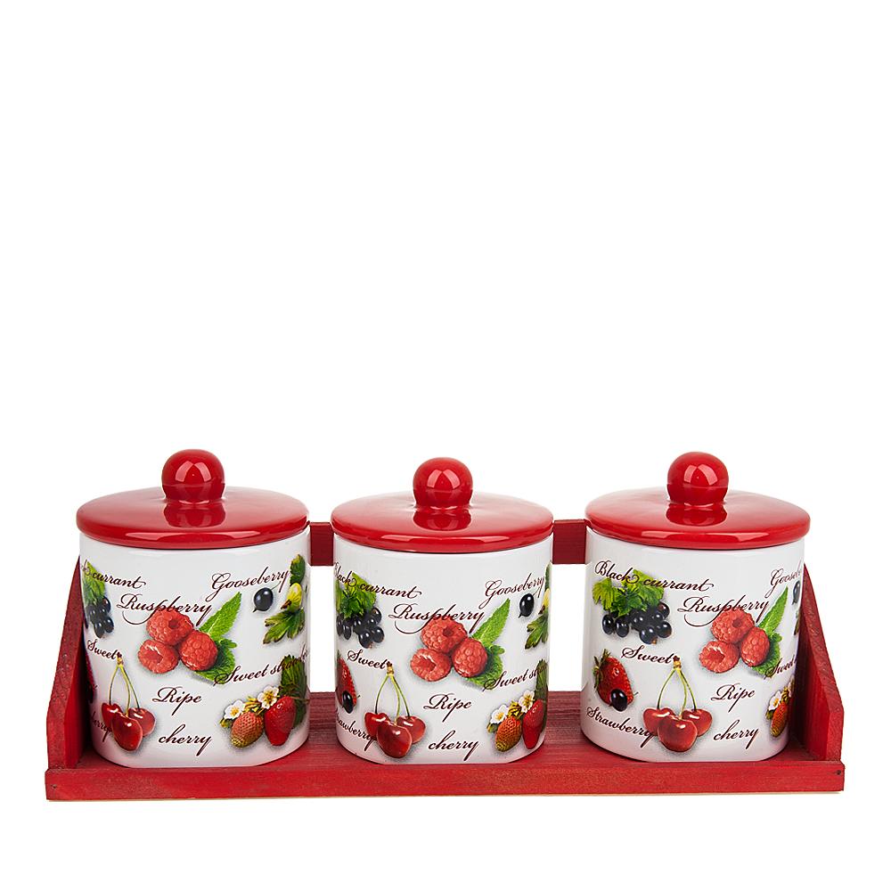 {} Polystar Банки для сыпучих Садовая Ягода (11х13х32 см) polystar банка для сыпучих садовая ягода 10х15 см