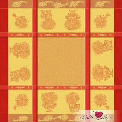 Скатерти и салфетки Lencera Скатерть Valayans Цвет: Терракотовый (160х160 см) скатерть ирма влагонепроницаемая цвет терракотовый