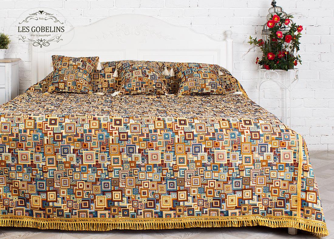 Покрывало Les Gobelins Покрывало на кровать Collage geometrique (190х230 см) les gobelins les gobelins покрывало на кровать nymphe 190х230 см
