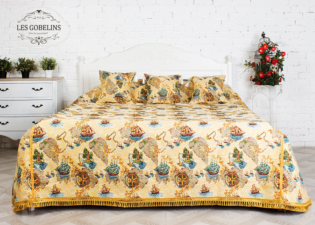 где купить  Детские покрывала, подушки, одеяла Les Gobelins Детское Покрывало на кровать Bateaux (180х230 см)  по лучшей цене