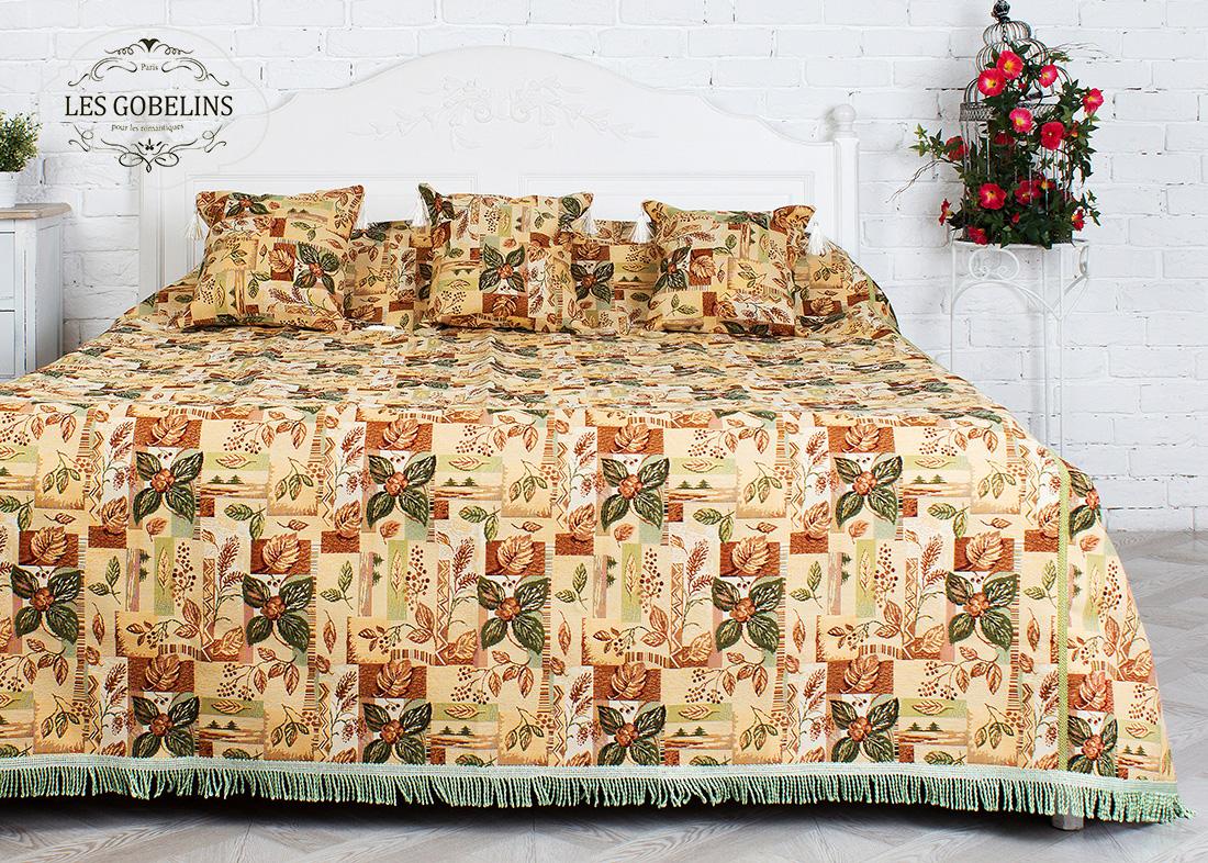 все цены на Покрывало Les Gobelins Покрывало на кровать Autumn collage (150х220 см) в интернете
