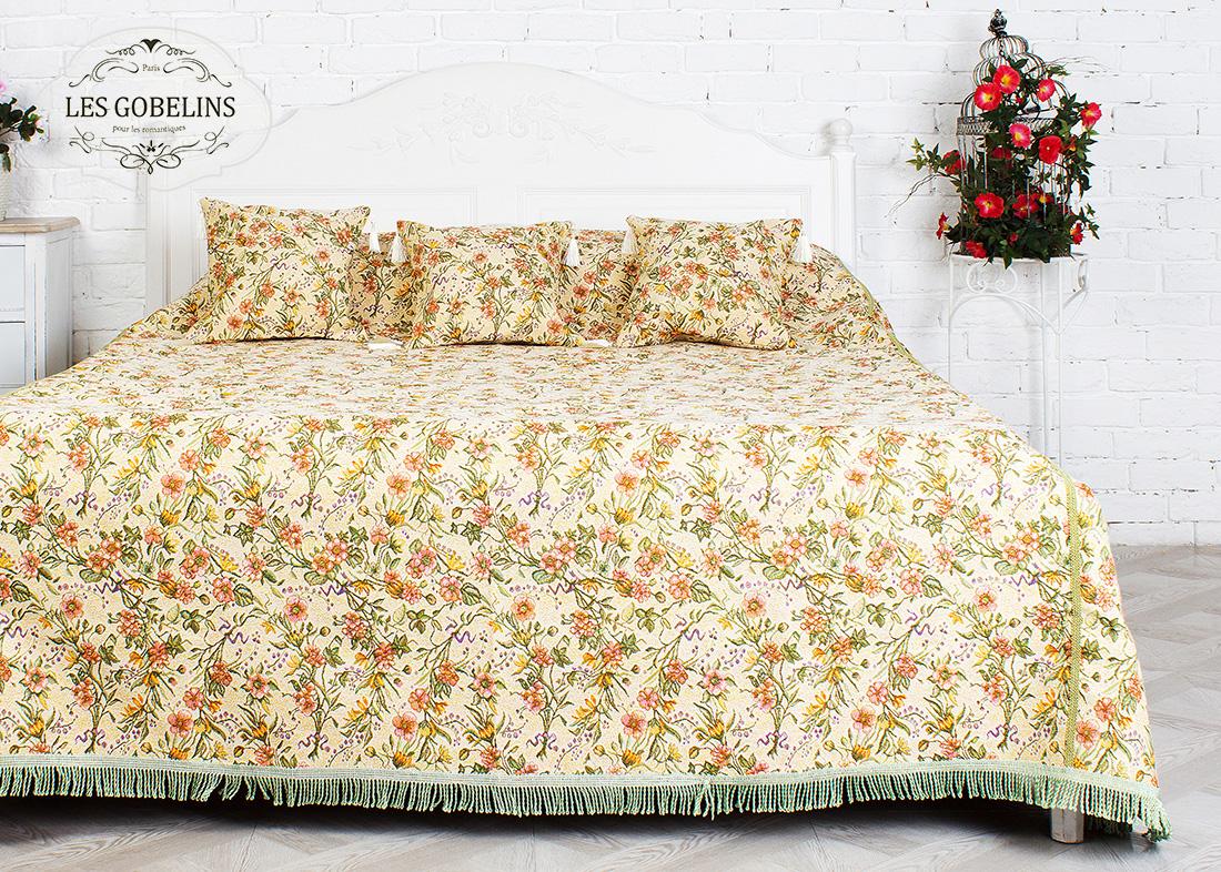 где купить  Покрывало Les Gobelins Покрывало на кровать Humeur de printemps (240х230 см)  по лучшей цене