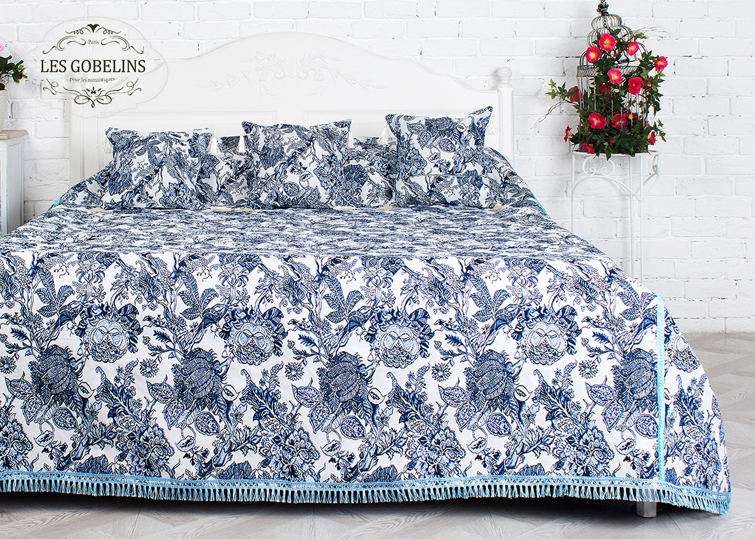 Покрывало Les Gobelins Покрывало на кровать Grandes fleurs (220х230 см) боковая панель 1 4 top для всех моделей парт moll