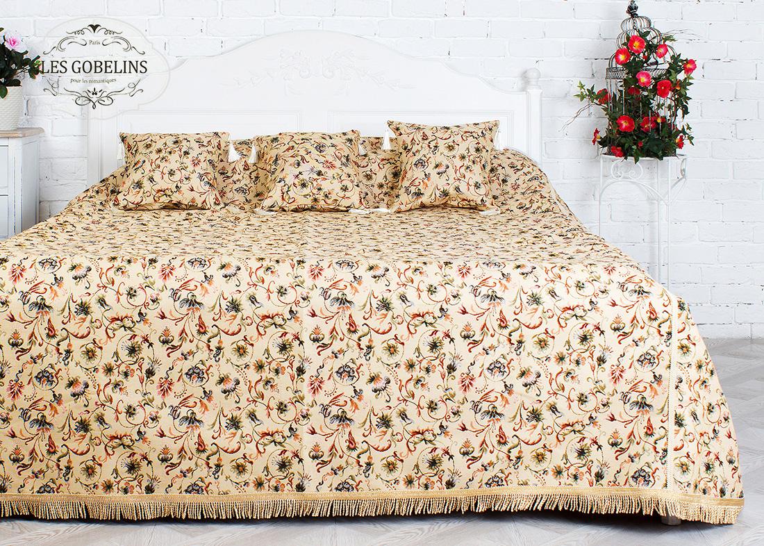 где купить Покрывало Les Gobelins Покрывало на кровать Fleurs anglais (190х220 см) по лучшей цене