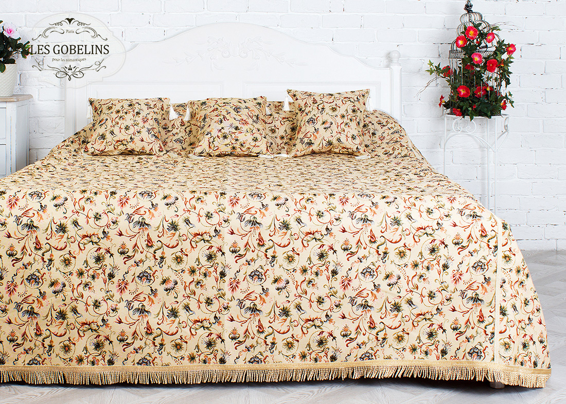 где купить Покрывало Les Gobelins Покрывало на кровать Fleurs anglais (220х230 см) по лучшей цене