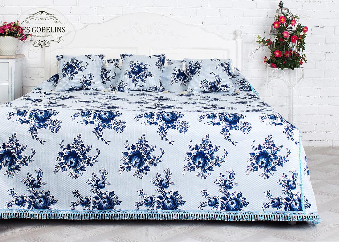 где купить Покрывало Les Gobelins Покрывало на кровать Gzhel (180х230 см) по лучшей цене
