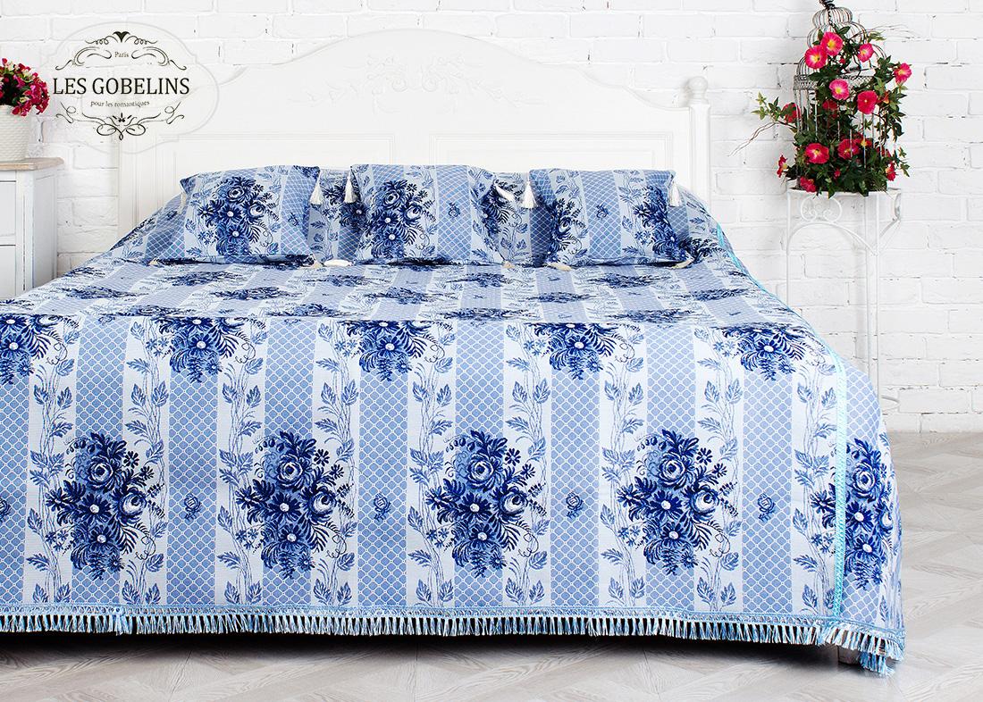 где купить  Покрывало Les Gobelins Покрывало на кровать Gzhel (220х220 см)  по лучшей цене