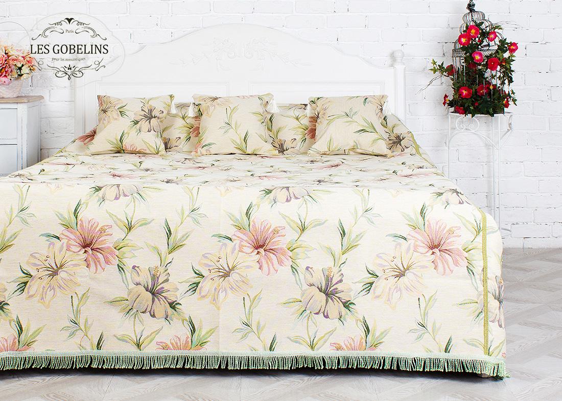 где купить Покрывало Les Gobelins Покрывало на кровать Perle lily (180х230 см) по лучшей цене