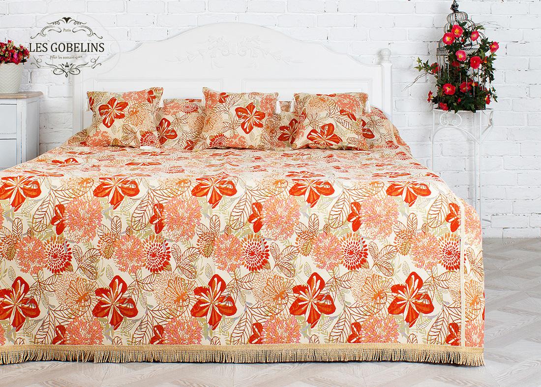 где купить  Покрывало Les Gobelins Покрывало на кровать Fleurs vector (160х220 см)  по лучшей цене