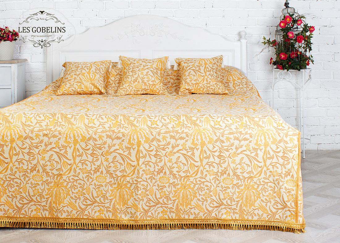 где купить  Покрывало Les Gobelins Покрывало на кровать Paroles or (260х240 см)  по лучшей цене