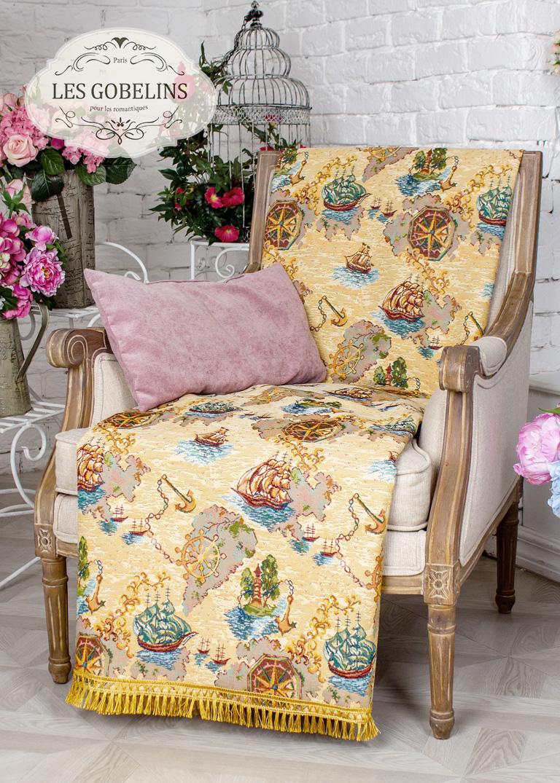 все цены на  Детские покрывала, подушки, одеяла Les Gobelins Детская Накидка на кресло Bateaux (80х130 см)  в интернете