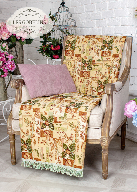 где купить  Пледы и покрывала Les Gobelins Накидка на кресло Autumn collage (60х160 см)  по лучшей цене