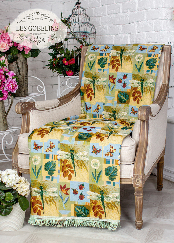 где купить Детские покрывала, подушки, одеяла Les Gobelins Детская Накидка на кресло libellule (90х200 см) по лучшей цене