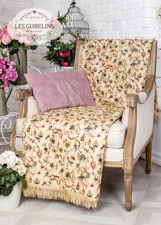 Покрывало Les Gobelins Накидка на кресло Fleurs anglais (50х170 см)