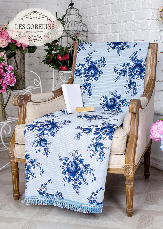 где купить  Покрывало Les Gobelins Накидка на кресло Gzhel (100х200 см)  по лучшей цене