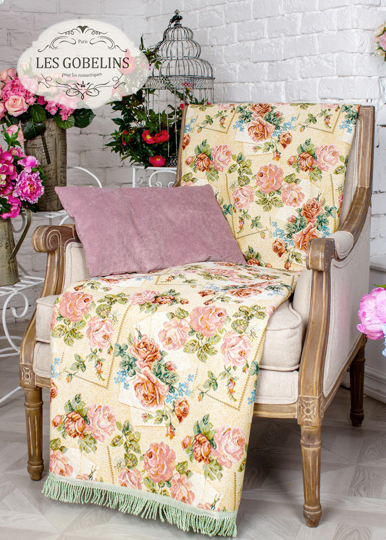 где купить  Покрывало Les Gobelins Накидка на кресло Rose delicate (100х200 см)  по лучшей цене