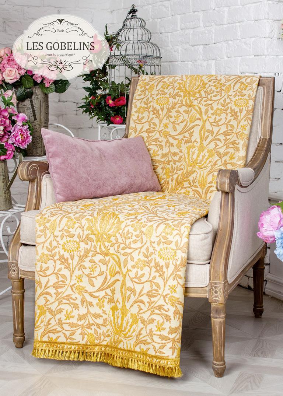 где купить  Покрывало Les Gobelins Накидка на кресло Paroles or (60х190 см)  по лучшей цене