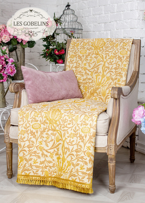 где купить  Покрывало Les Gobelins Накидка на кресло Paroles or (70х170 см)  по лучшей цене