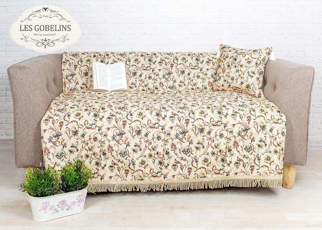 где купить  Покрывало Les Gobelins Накидка на диван Fleurs anglais (160х160 см)  по лучшей цене