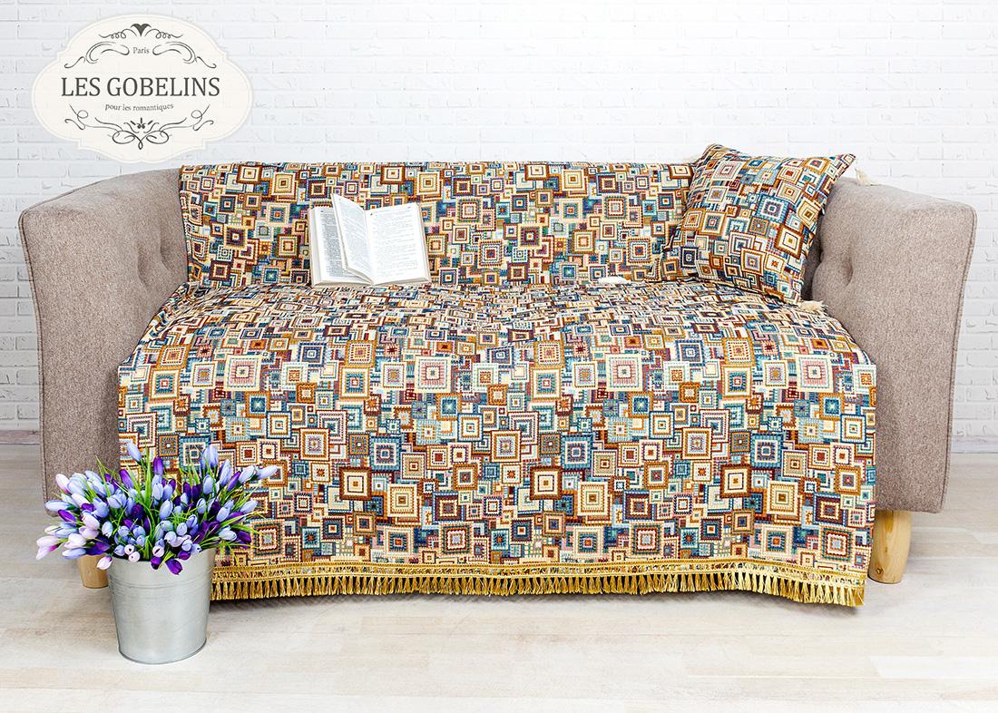 все цены на  Пледы и покрывала Les Gobelins Накидка на диван Collage geometrique (140х190 см)  в интернете